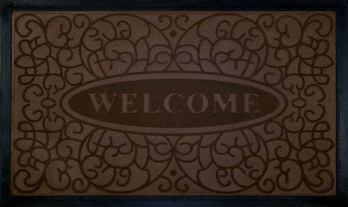 WELCOMEMAT SWIRL18X30 CFFE P12