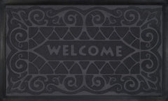 WELCOMEMAT W.IRON18X30 GRY P12