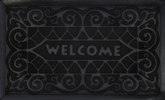 WELCOMEMAT W.IRON18X30 BLK P12