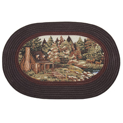 BRAIDED RUG WOODLANDS PK6