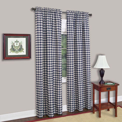 BUFFLOCHCK PANEL42X63 NAVY P12