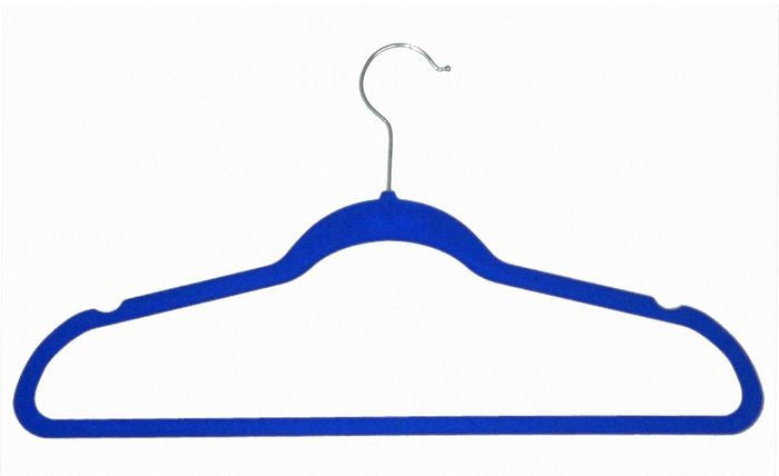 VELVET HANGERS BLUE 10PCS EACH