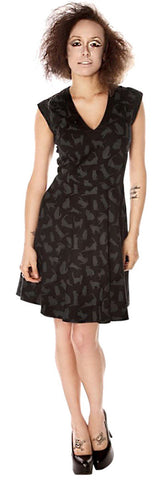 Grey and Black Kitty Cat dress