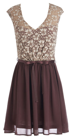 Plum Lacey Dress