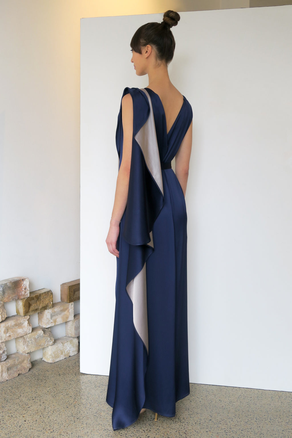Amelia Maxi Satin Dress | CARL KAPP