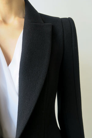 New Classic Wool Crepe Jacket | CARL KAPP