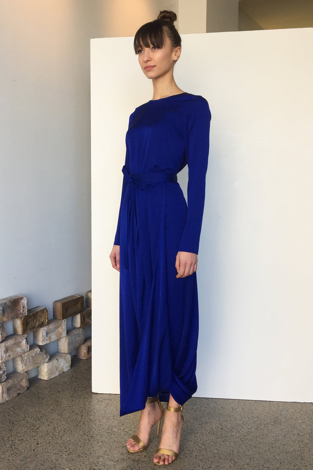 Topaz Silk Dress - Electric Blue | CARL KAPP