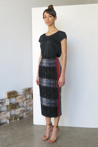 Two-Face Tweed Pencil Skirt | CARL KAPP