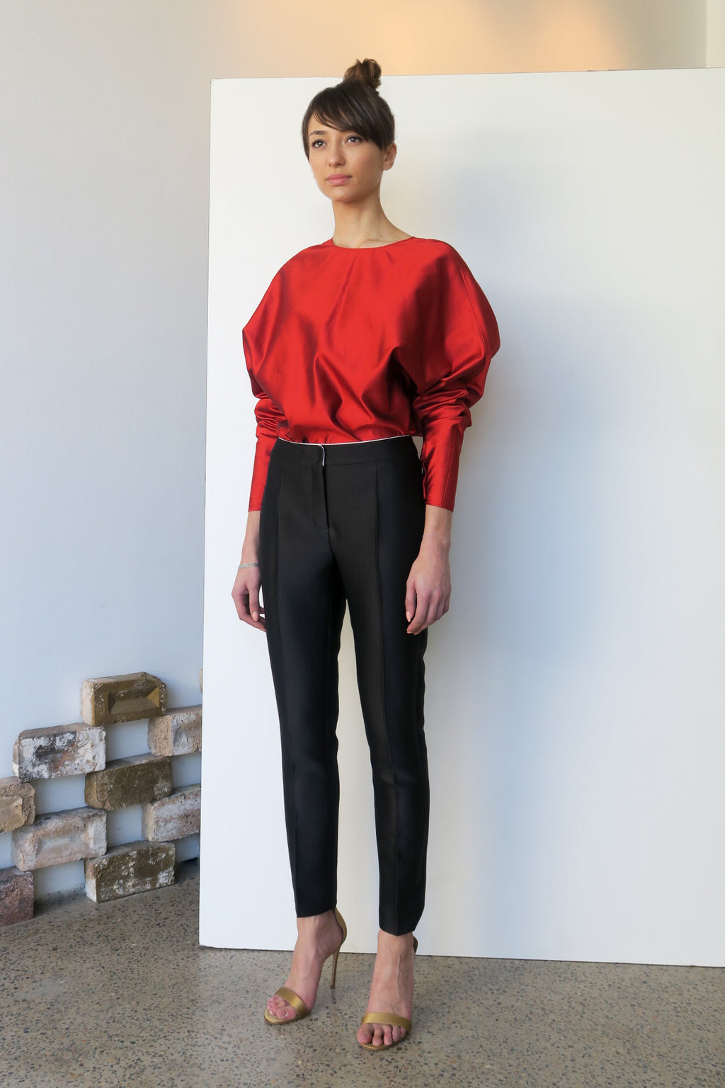 Venice Silk Top Red | CARL KAPP