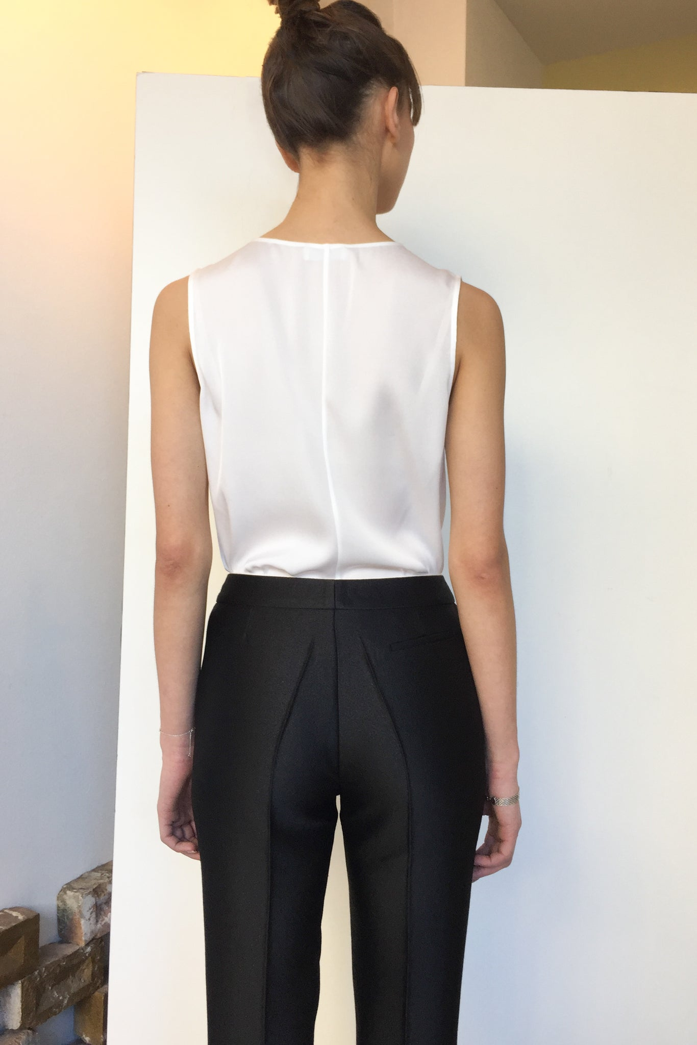 Wrap Silk Top White | CARL KAPP