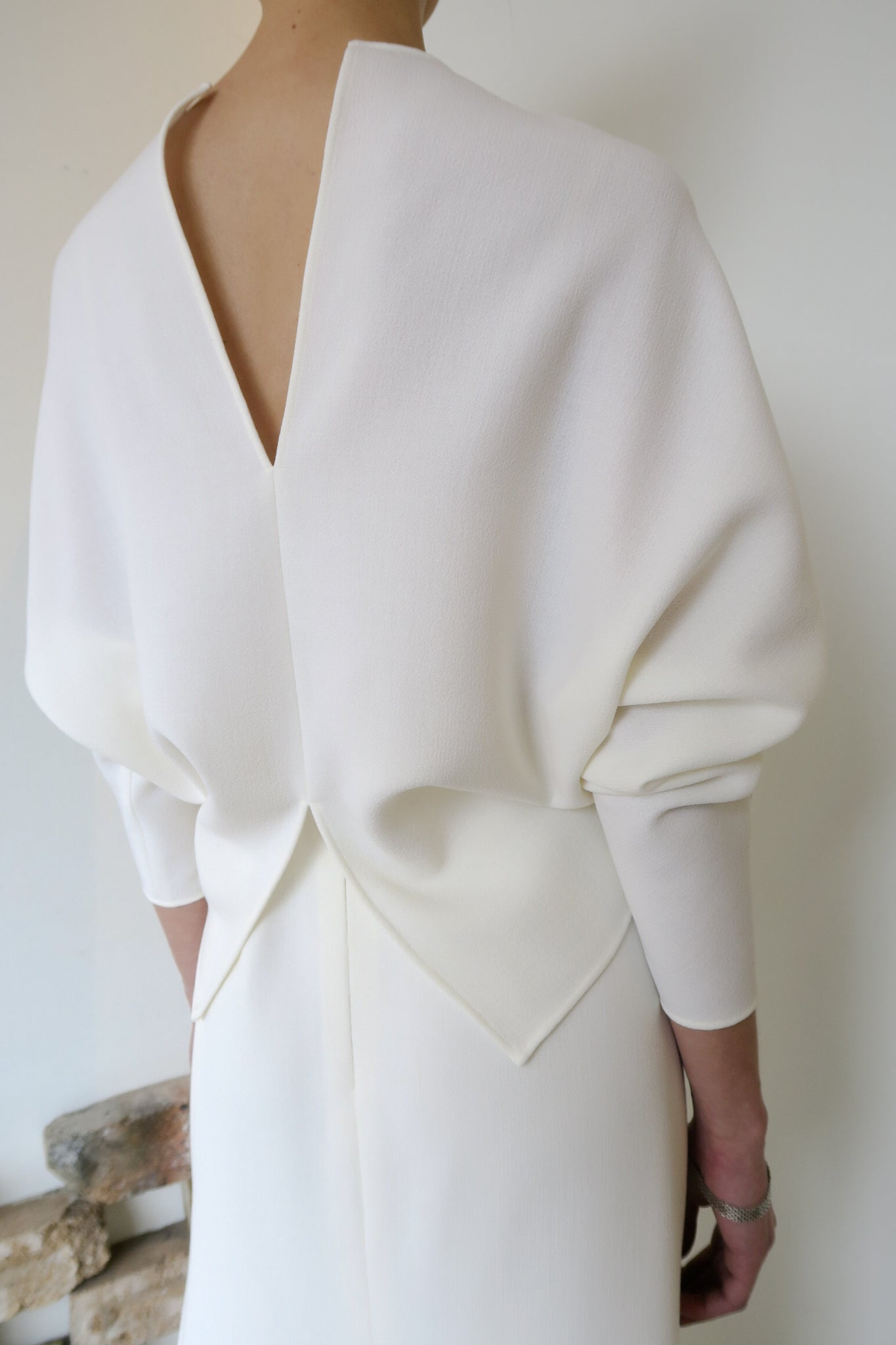 Venice Wool Crepe Top White | CARL KAPP