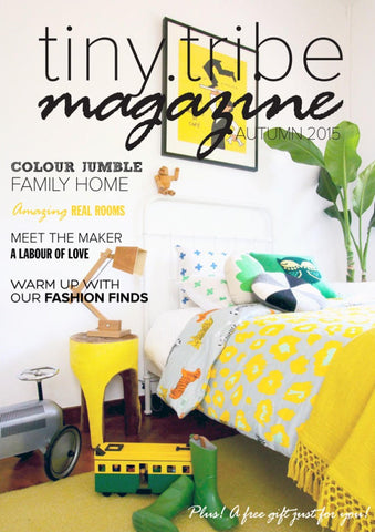 Styled Front Cover Tiny Tribe Magazine