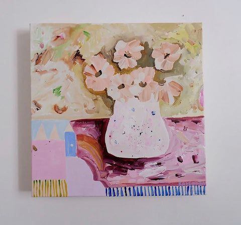 Kate Eliza When In Love 30cm x30cm Original on canvas