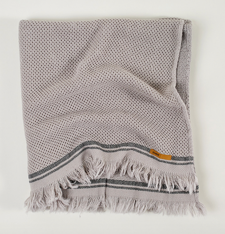 Nurture Cotton Hand Towel in Pale Grey
