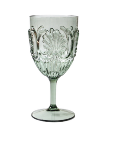 Indigo Loves Flemington Acrylic Wine Glass - Green