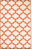 Tangier Orange and White Rug
