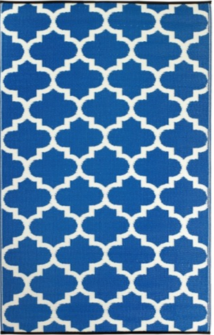 Tangier Regatta Blue and White Rug