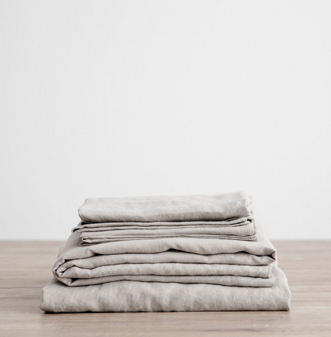 Cultiver - Smoke Grey Linen Sheet Sets