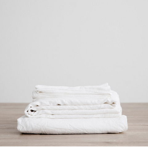 Cultiver - White Linen Sheet Sets