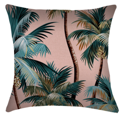ETP Palm Trees Sunset Cushion
