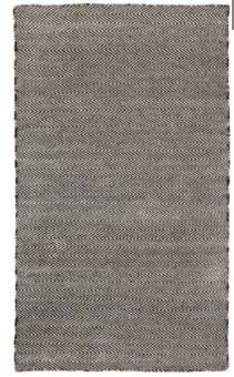 Herringbone Black Rug