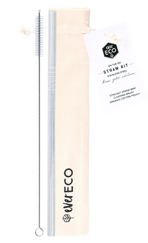 EE ON-THE-GO STRAW KIT STAINLESS STEEL