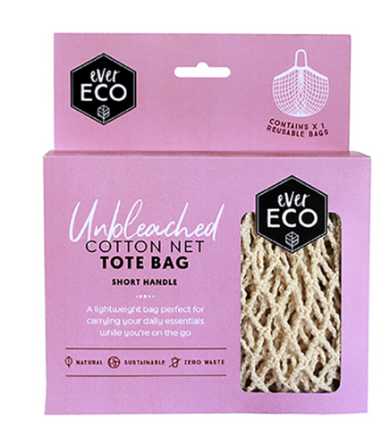 EE ORGANIC COTTON NET TOTE BAG SHORT HANDLE