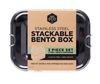 Ever Eco Stackable Bento Box 2 Tier and Mini Container