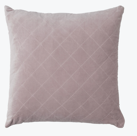 Blush quilted cushion 50x50