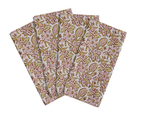 Walter G Krabi Guava cotton napkins (set of 4)