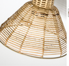 Indigo Loves Lagoon Rattan Wall Lamp - Brass
