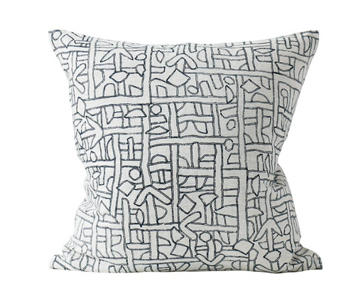 Zaire Indian Teal Cushion 50cm x 50cm