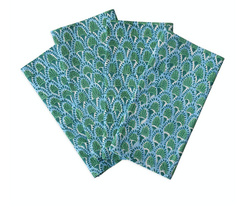 Scopello Emerald cotton napkins (set of 4)