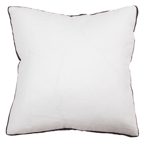 CM Essential Milk Linen Black Velvet Cushion 60x60
