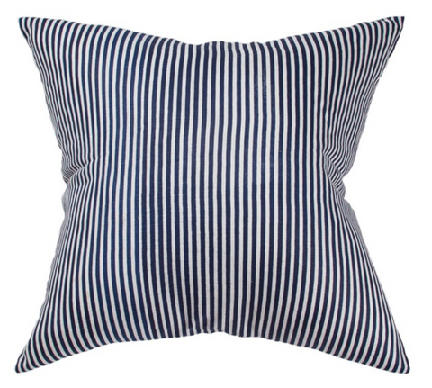 CM Linen Navy Stripe Cushion 55x55