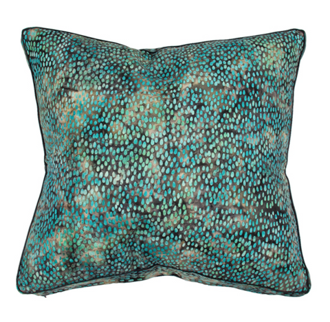 Cm Midnight Aqua Rain Batik Cushion