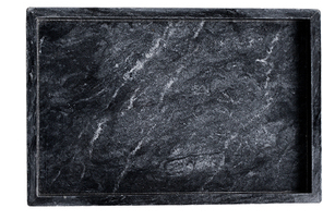 Black Rectangle Marble Tray