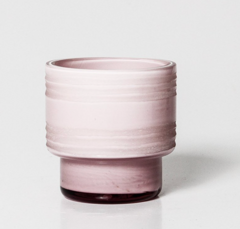Leia Glass Votive Small - Blush