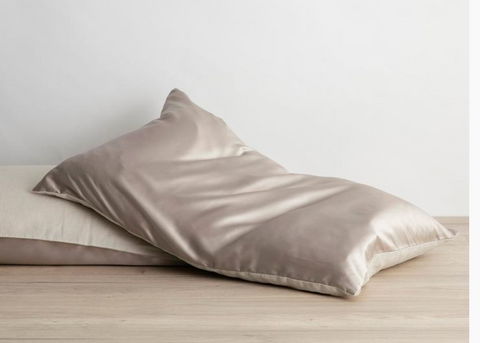 Cultiver Silk Linen Flip Pillowcase - Smoke