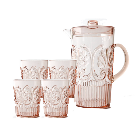 Indigo Loves Flemington Acrylic Jug and Tumbler Bundle Pink