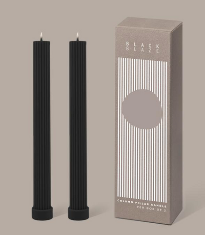 Pillar Candle Duo Black