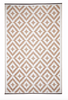 Aztec Beige and White Rug