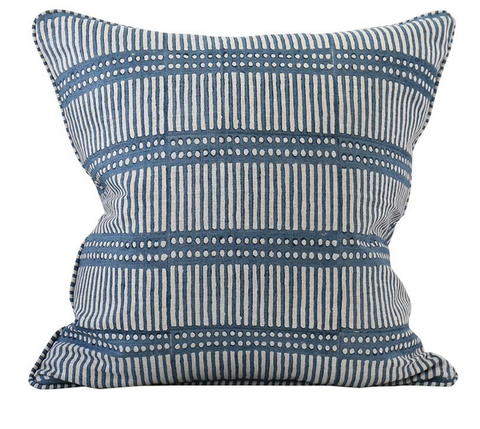 Walter G Dash Dot Inverse Denim Cushion