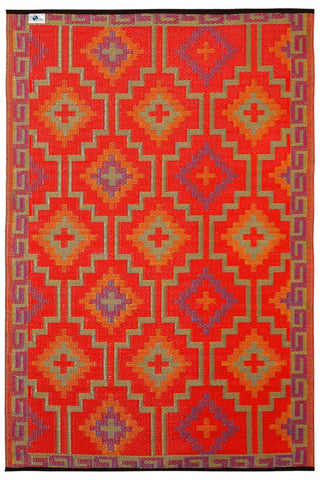 Lhasa Orange and Violet Rug