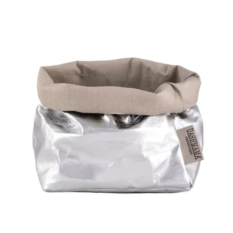 Uashmama Bag Metallo Grey/Silver Medium