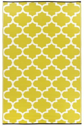Tangier Yellow and White Rug