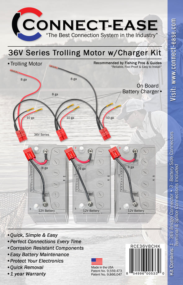 36 Volt Series Trolling Motor Connection Kit with On-board Charging (RCE36VBCHK)