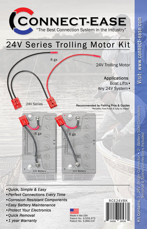 Connect Ease  24v trolling motor kit (CE24VBK) packaging