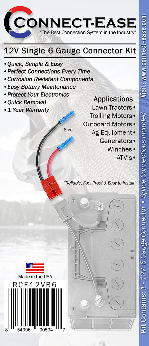 6 gauge connection for outboards and heavy duty applications - (RCE12VB6) - Connect-Ease. Connect all your marine equipment with ease.