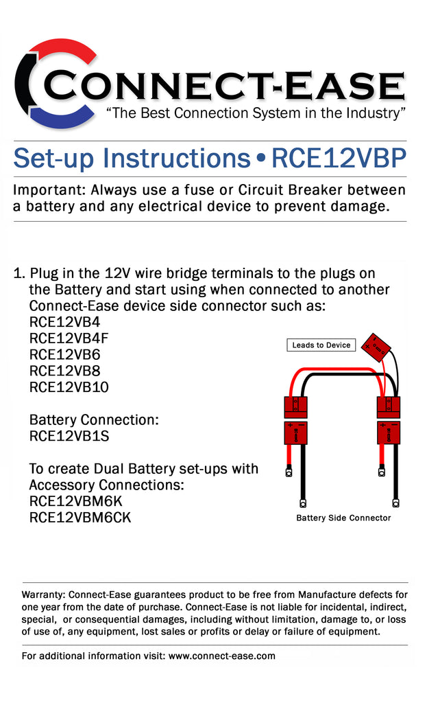 Connect-Ease: 12 Volt Parallel Battery Connection System